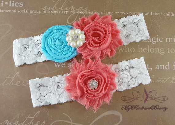 flower garter by MRBBridal