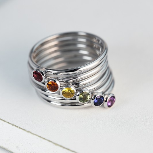 wedding band stack collection