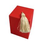 Red Silk Tea Box