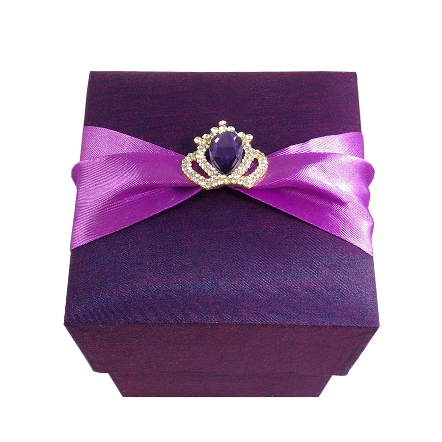 plum violet luxury wine glass gift box