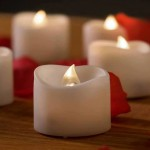 battery-operated candles for wedding decoration