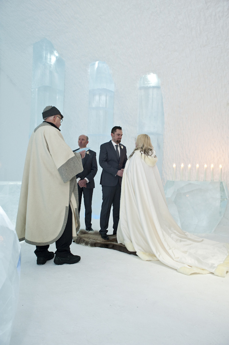 getting married in an ice hotel