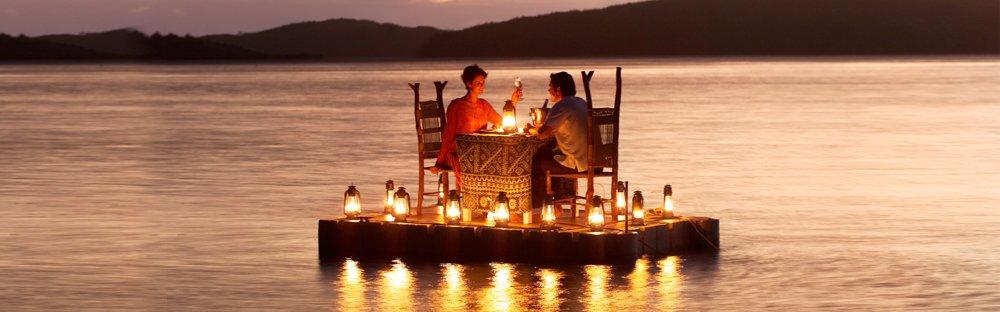 romantic dinner Turtle Island Fiji