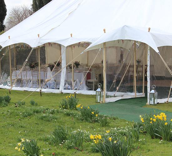 Richardson Marquee garden wedding