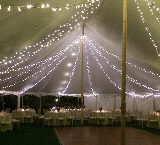 Richardson Marquee night wedding
