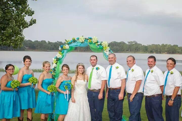 wedding flowers, bride, groom, bridesmaids and groomsmen Angel Isabella