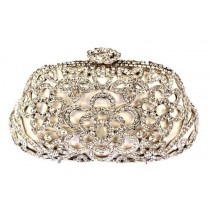 Silver Flower Clutch Bag by Bag In Store