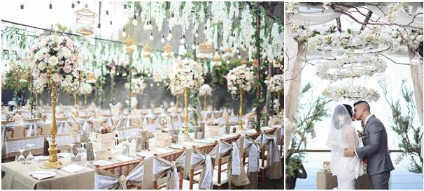 elegant wedding from the top - Patricia and Titov