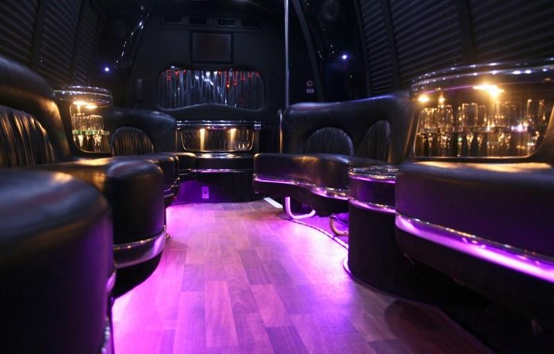 houston party bus interior