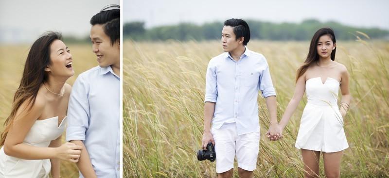 photo shoot in fields
