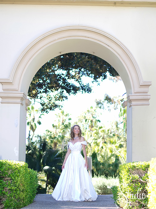 ball gown bridal dress by Connie Tao suitable to large venue