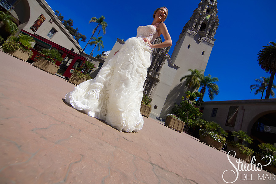 ball gown bridal dress by Connie Tao