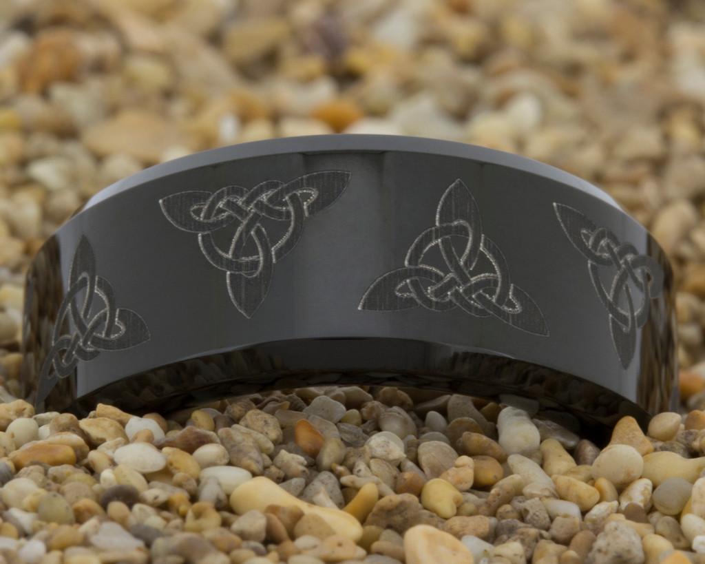 black tungsten wedding ringtungsten wedding ring by PebbleBeachTreasures.com