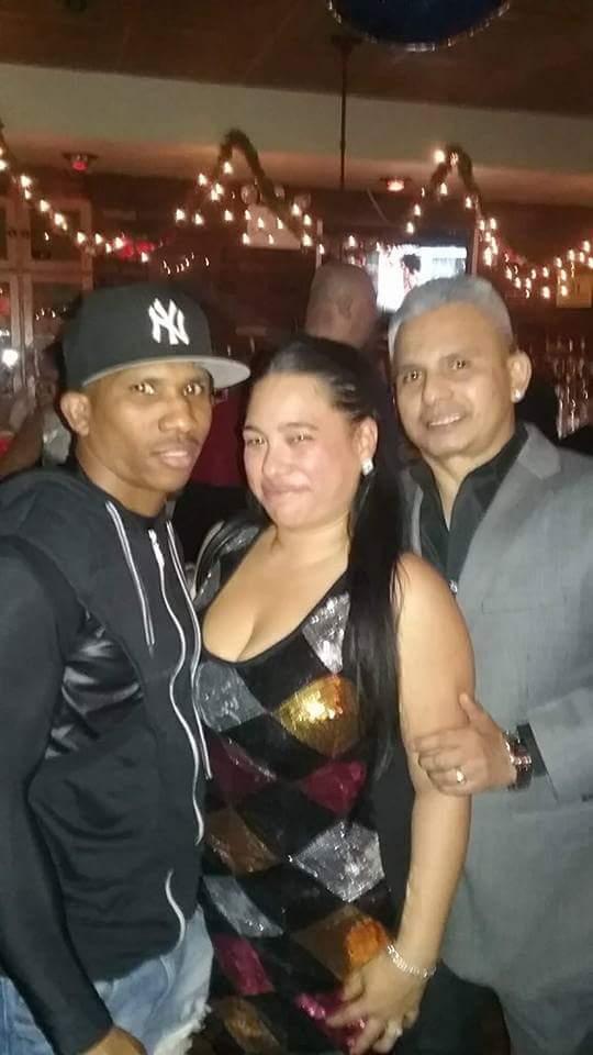 Vanessa Herrera and Angel Luna with friends