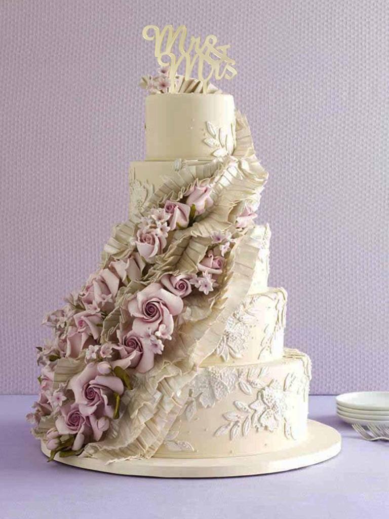 elegant gold wedding topper