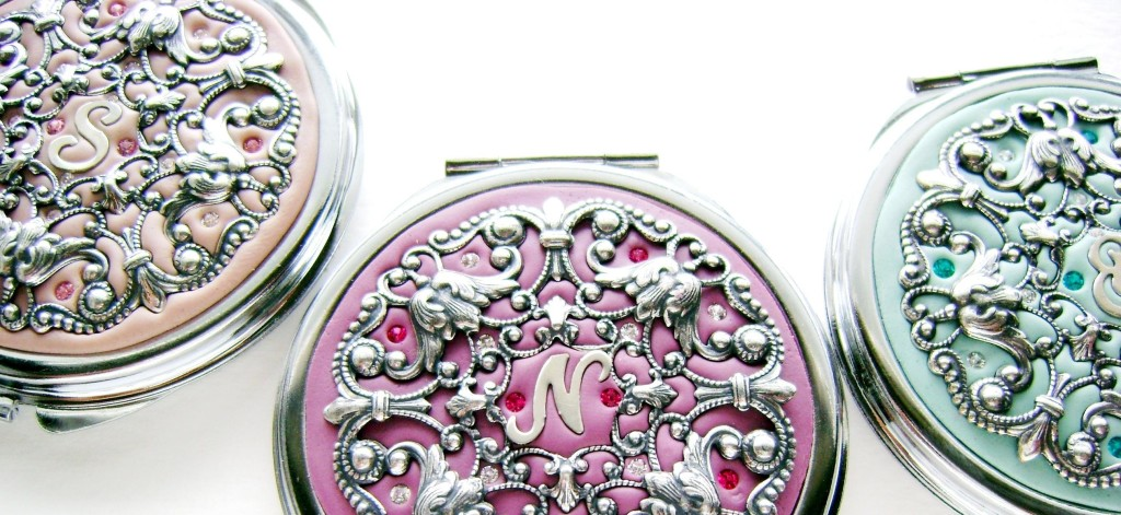 Crystal Filigree personalized compacts
