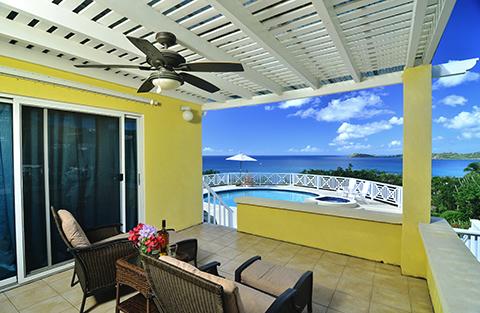 stunning views from St.Thomas villa rental