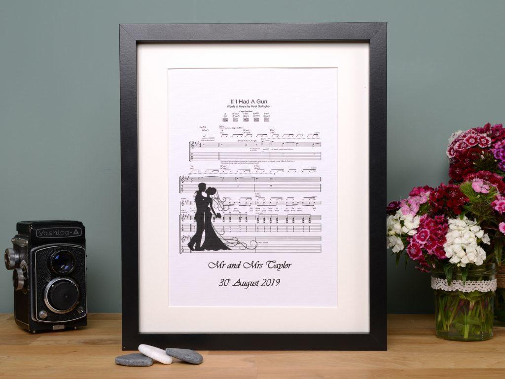 Little Gems Online First dance wedding song frame