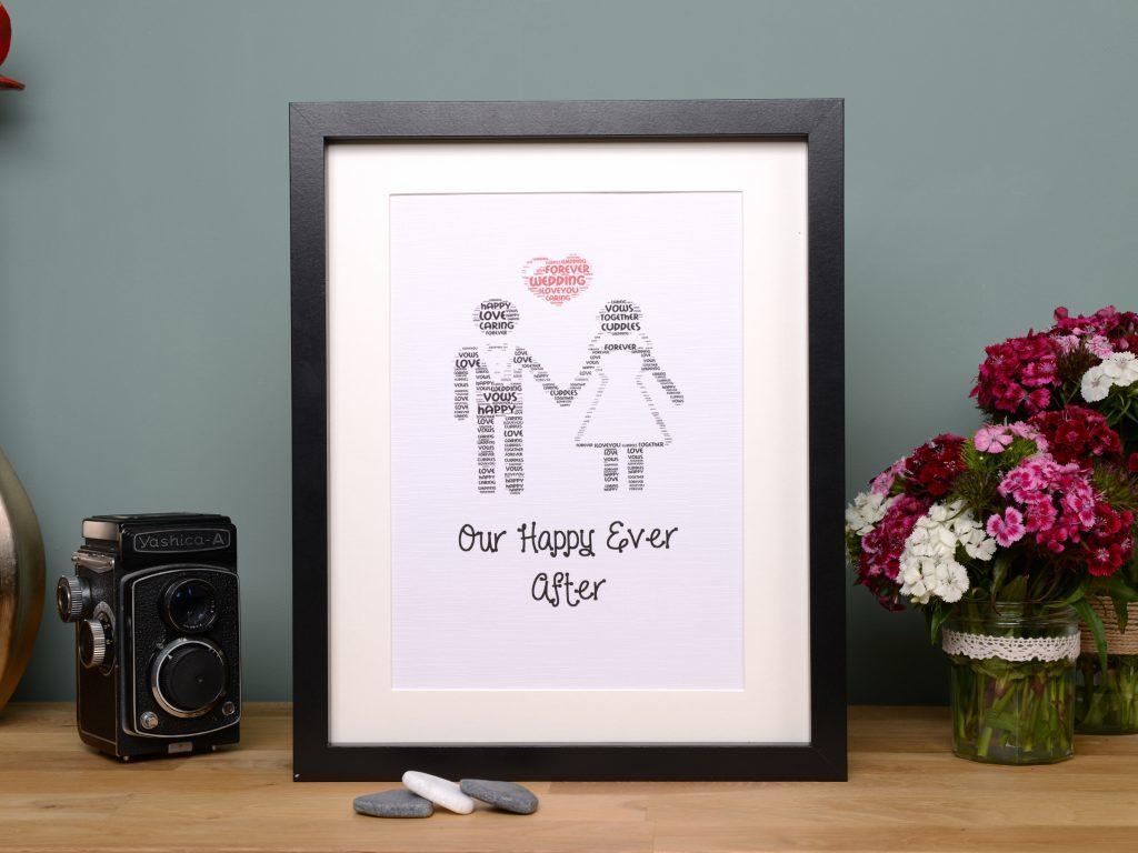Little Gems Online personalised wedding frame