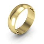 gold 6mm half round men's wedding ring