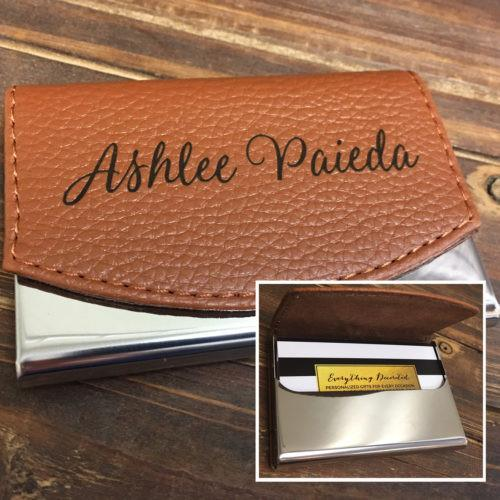 personalized business card holder from Everything Decorated
