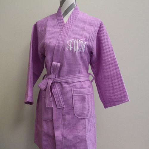 Embroidered Waffle Weave Kimono Robe from Everything Decorated