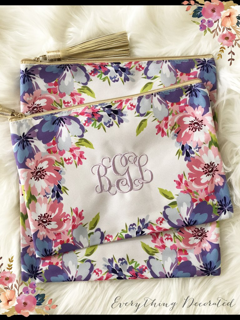 cosmetic tote bag from Everything Decorated