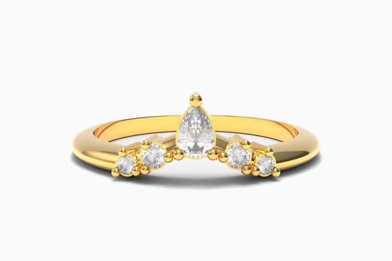 contempoarary stackable engagement rings by Aurelius