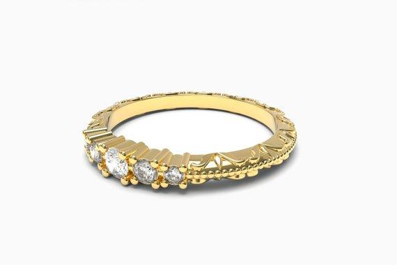 ornate design engagement rings by Aurelius