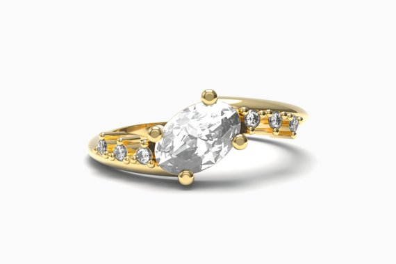 oval diamaond engagement rings by Aurelius