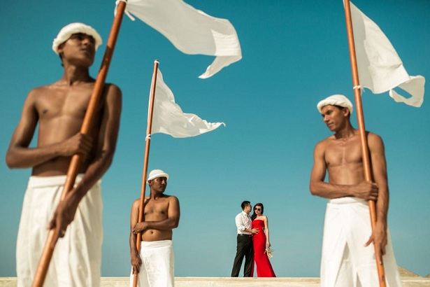 Maldives destination wedding in a traditional way