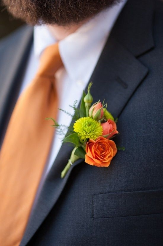 orange tie rose