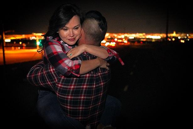 newlyweds at M Casino Pool
