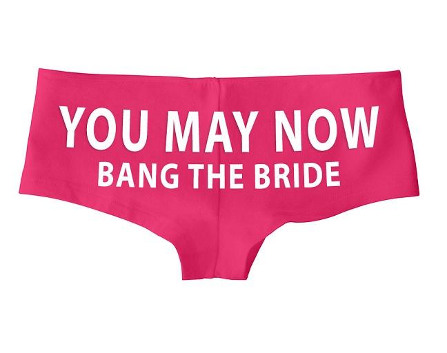 bachelorette underwear for the bride
